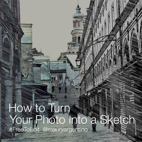 photo sketch tutorial