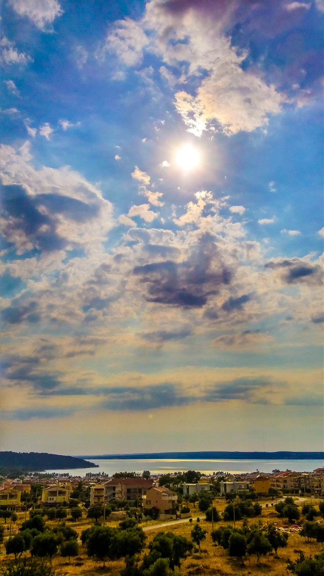 #bay #beach #village #Turkey #travel #colorful #hdr #sunshine #clouds