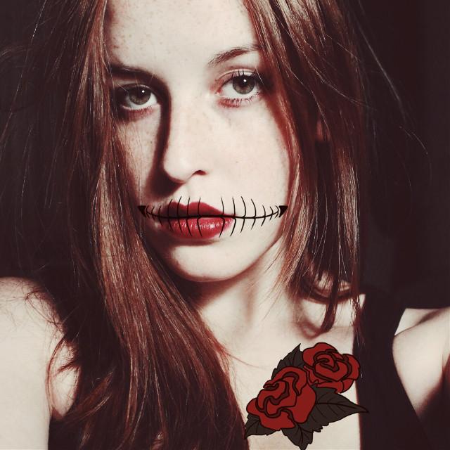 #halloween #trickortreat #art #free #interesting #clipart #skulllady #skeleton #mask #makeup