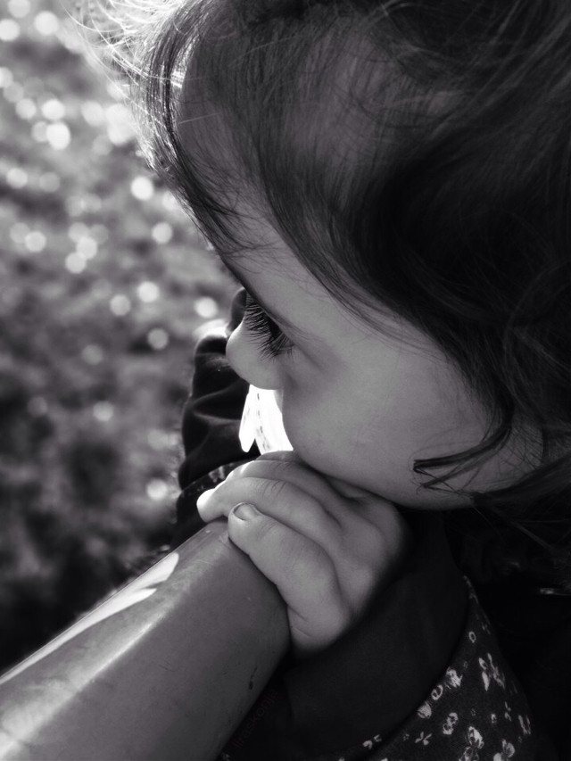 #emotions #mood #baby #girl #thoughts #blackandwhite #portrait #depthoffield