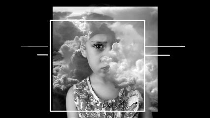 freetoedit portrait surreal clouds blackandwhite
