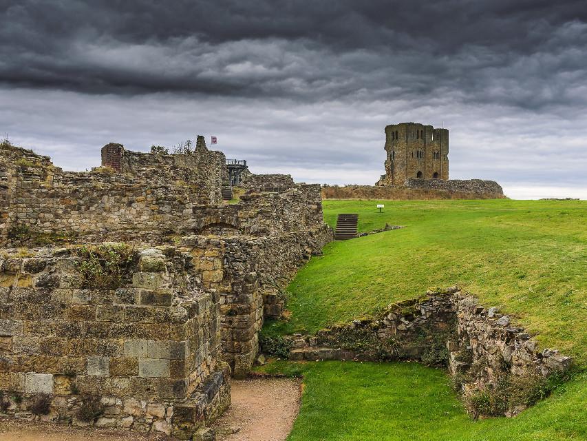 Scaborough castle #interesting -#art #beach #scaborough #castle -#yorkshire #england #old
