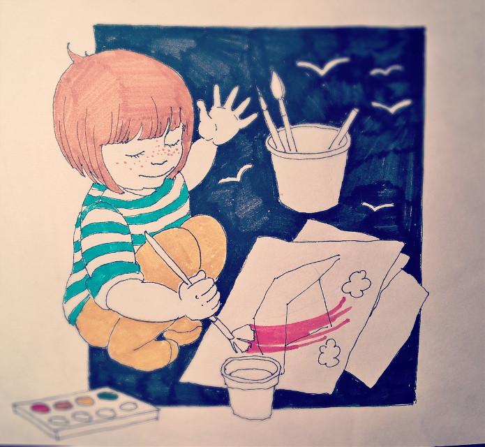 #sketch #sketchbook #art #drawing #ink #markers #graphic #kids #child #childillustration