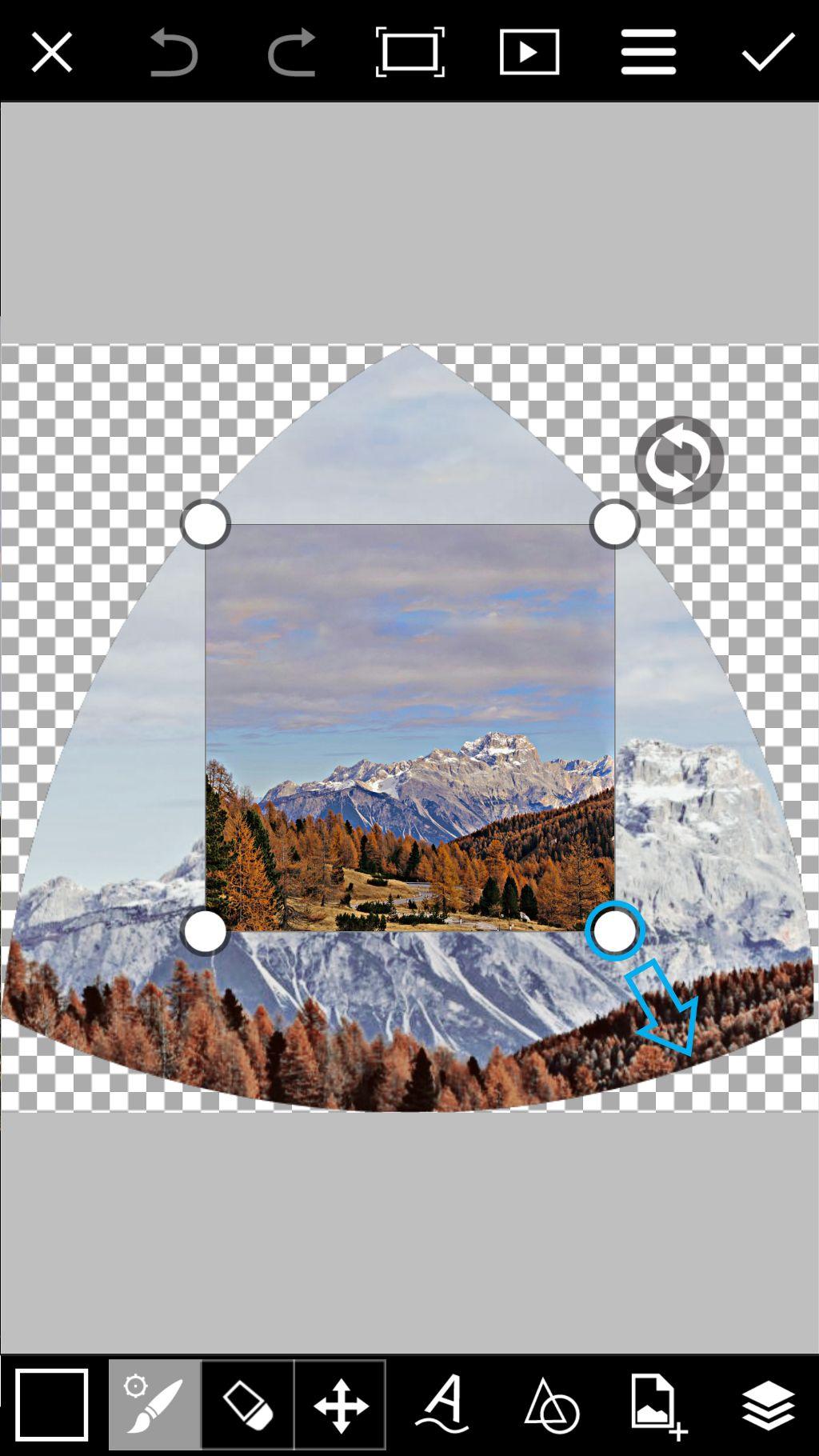 adjust photo corners