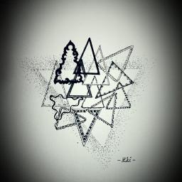 triangle drawing blackandwhite