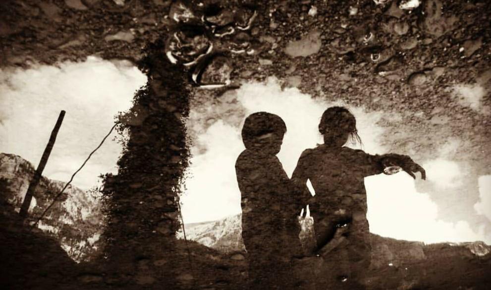 #photography #photooftheday #reflection #kids #oldphoto #emotions #sepia  #people #nature