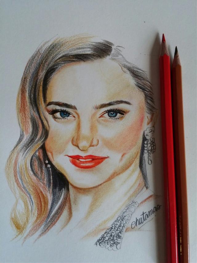 #drawing  #coloredpencil #make up #Miranda Kerr