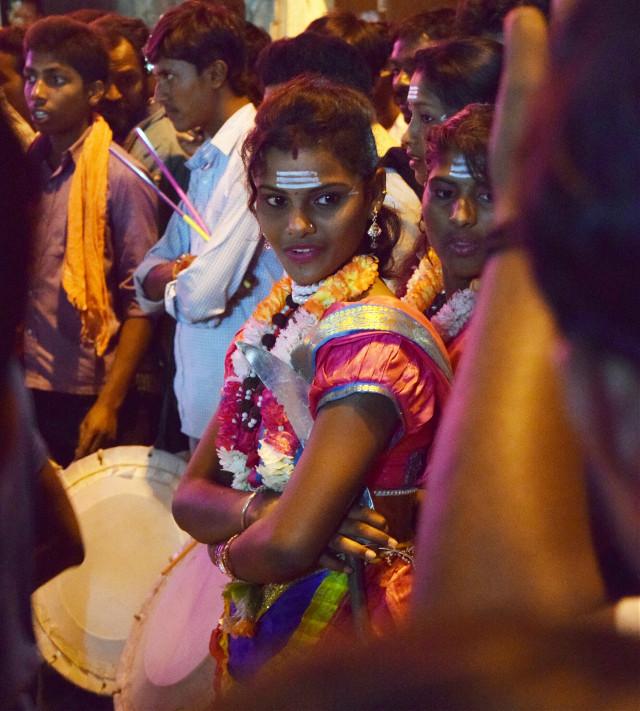 #travel #photography #people #freetoedit #emotions #colorsplash #colorful #cute #girl #festival #God  #India #Bangalore