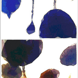 wapcollage shadows baubles polygon watercolour