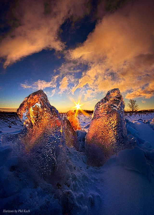 Horizons by Phil Koch.  #seasons #winter #snow #colorful #photography #hdr #peace