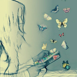 pencileffect photography people antiselfie butterfly