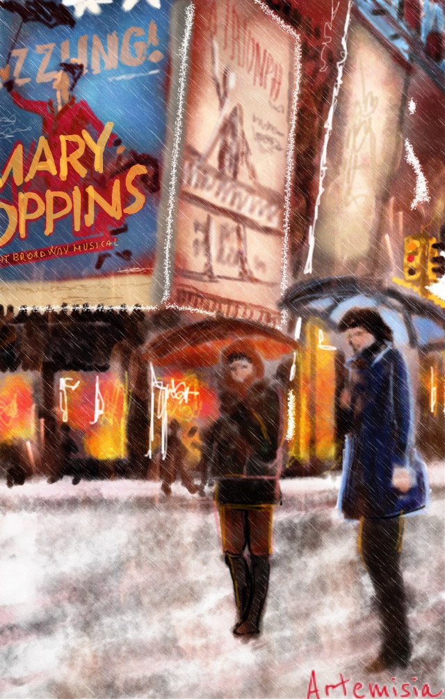 #wdptimessquare #drawing #city #snow #newyorkcity
