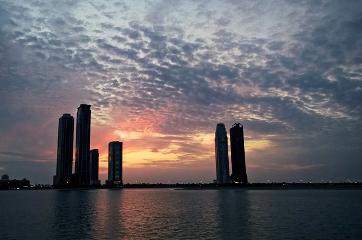 sky sunset clouds beautiful water