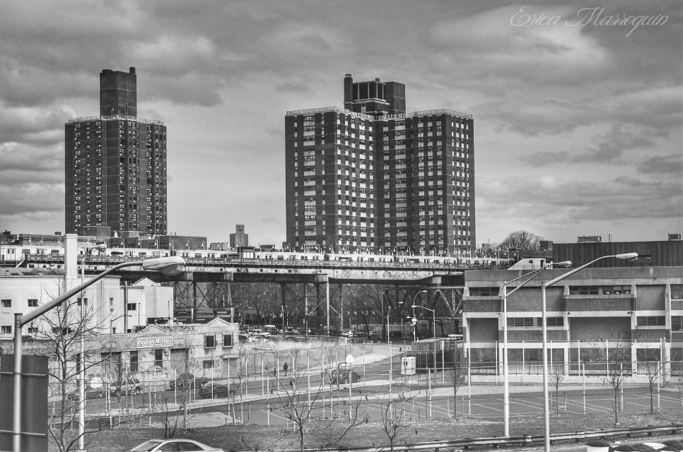 #urban #citylife #newyork #city  #her #blackandwhite #train #dramaeffect #building #street #oldphoto