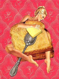 collageart vintage retro collage food