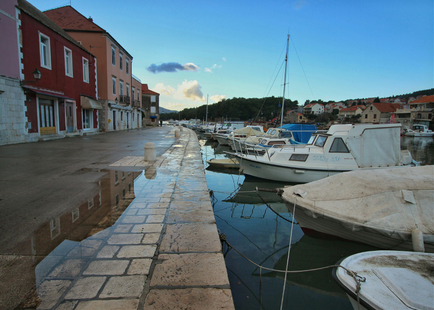 Winter in Starigrad, island Hvar.  #colorful #photography #travel #winter #nature  #croatia