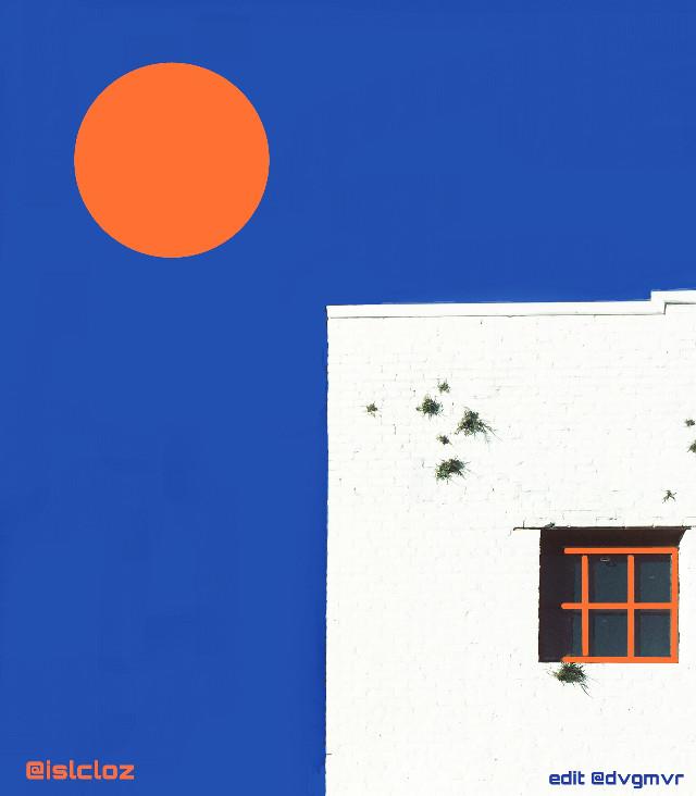 California sunshine  My edit for dear Carol  @islcloz   #architecture #blue #orange #drawon #edited