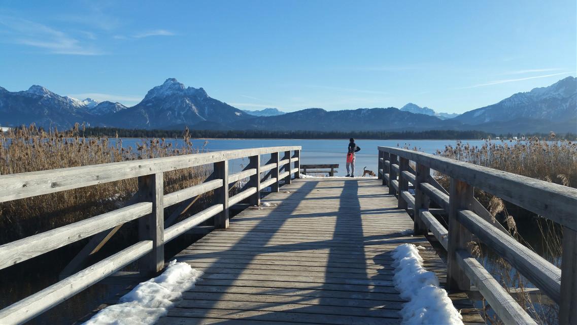 The bridge # snow # Allgäu #bavaria #mountains  #winter  #nature #travel