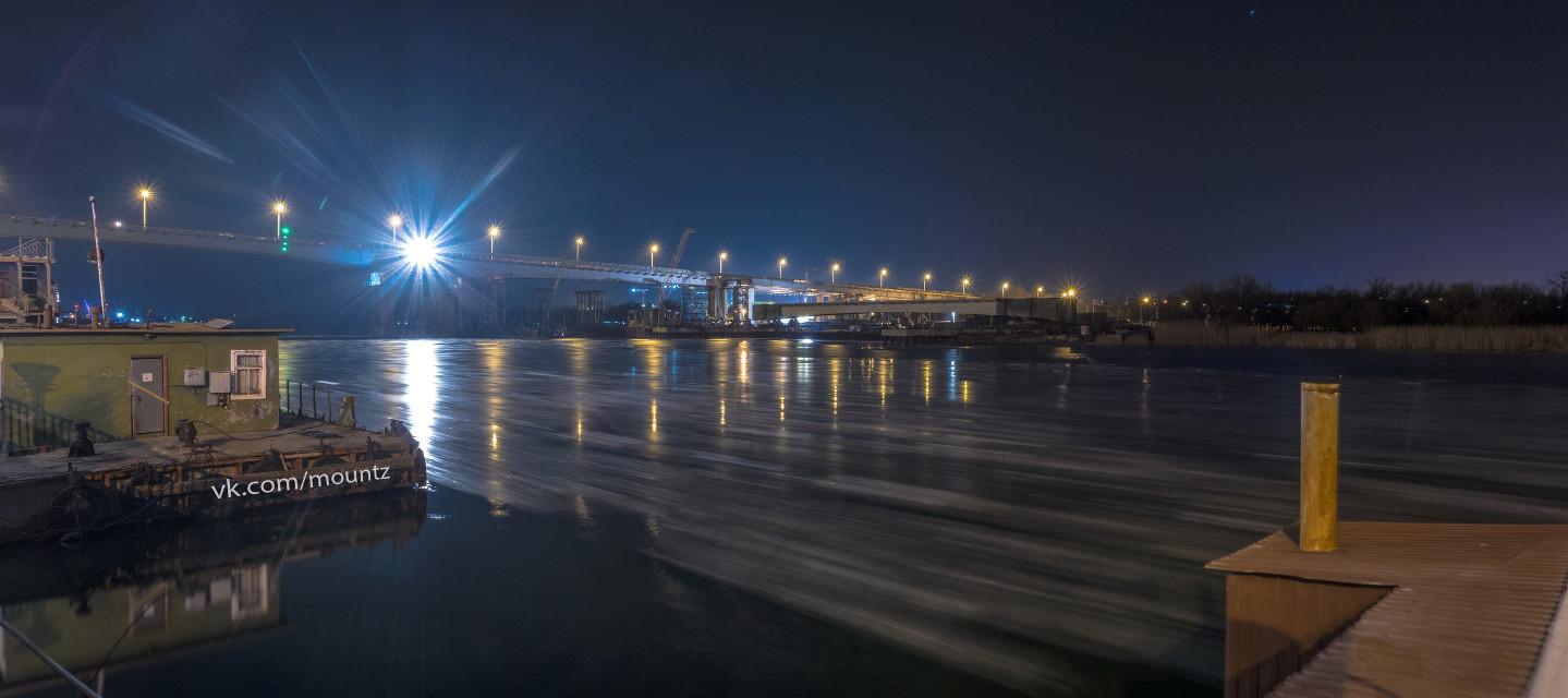 #panoramic  #river  #bridge  #night  #lights  #reflections  #winter