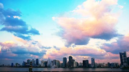 sky vibrant colorful bright beautiful