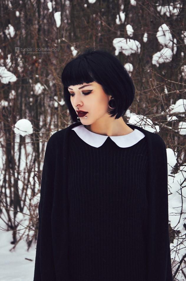 Lakrisha #girl #portrait #model #snow #style #brunette #winter #beautiful #photography