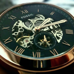 watch fossil gold clock