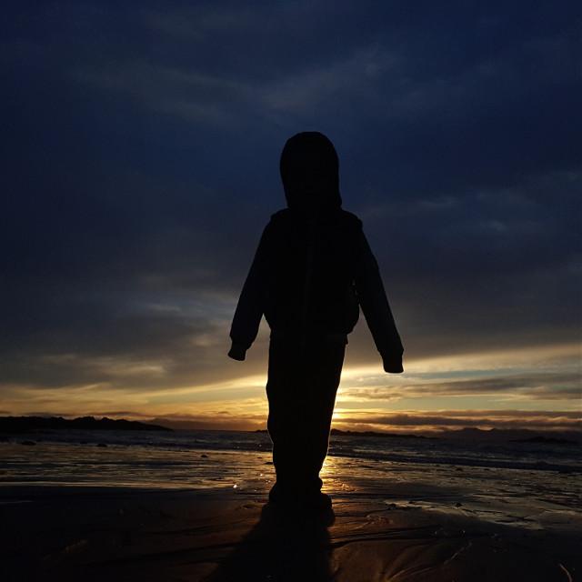 #photography #handsomeboy #sunset #alaska #lovethebeach #ocean #nofilter #nature