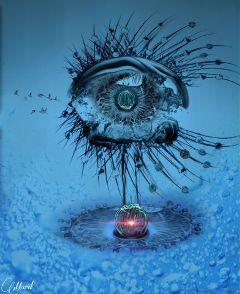 fteballoflight eye drops blue editing freetoedit