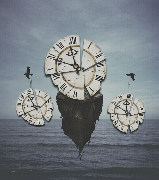 #clock #edited #time #colors  #clipart #birds