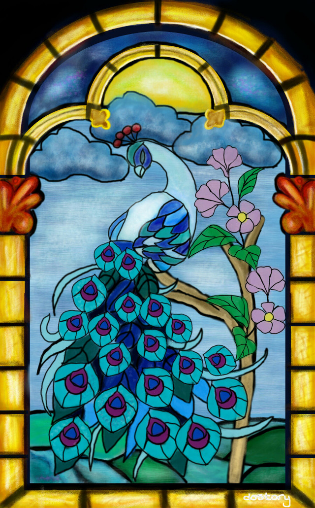 #wdpStainedGlass  🔸1st place🔸Many thanks for your votes ❤ #digitaldrawing #drawing #colorful