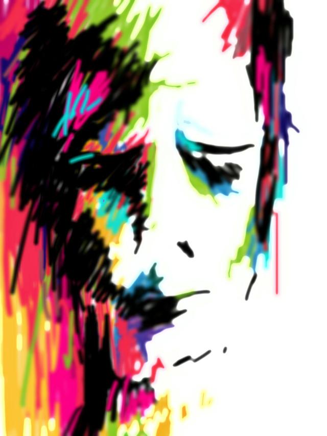 Misery.  5-min sketch. :P   #blackandwhite #colorsplash #colorful #emotions #hdr #holga #music #nature #people #love #quotesandsayings #winter #vintage #drawing #art