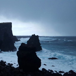 cliffs iceland weathernature