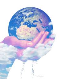 wapearthinhands earth hands earthday manipulation