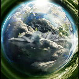 wapearthinhands mother motherearth clouds earth