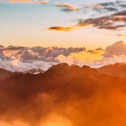 freetoedit clouds mountains light rays