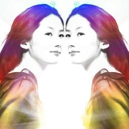 blackandwhite colorsplash emotions photography mirror