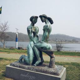emotions love statue