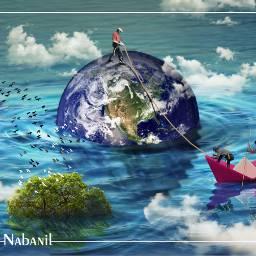 creative world Tree artist save art color painting digital