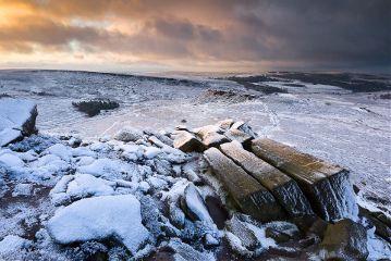 photography picsart landscape landscapephotography snowscape snow sunrise clouds peakdistrict derbyshire england rocks