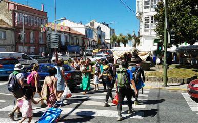 people peregrine peregrinos melide caminodesantiago
