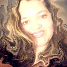 curlyhair swirlstretch selfie
