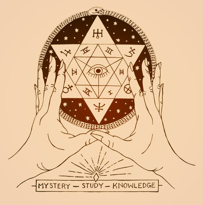 Alchemic and planetary symbols witchcult witchcraft