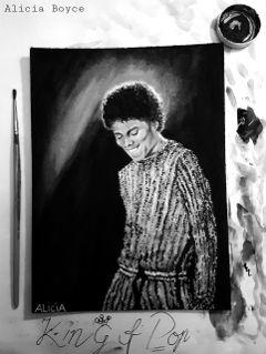 kingofpop michaeljackson music blackandwhite birthday dpcpainting