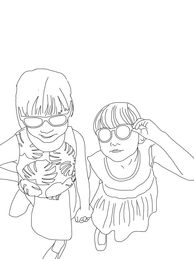 this is my cousins💛💜💚 #FreeToEdit #art #japan #summer #outline