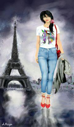 wdpbtsfashion colorsplash colorful girl trendy