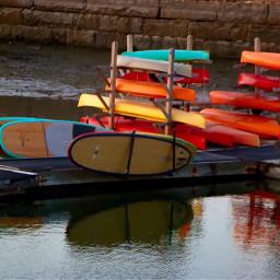 summer ocean sunset water boatdock